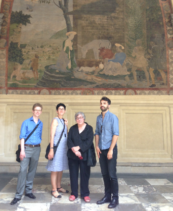 Gabriel Williams, Helen Hills, Mary Pardo and Emanuele Lugli in Florence