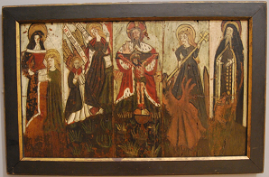 Anonymous, The Leake Panels, early 16th century, York Museums Trust. Oil on oak, 69.5 x 115.5 cm.
