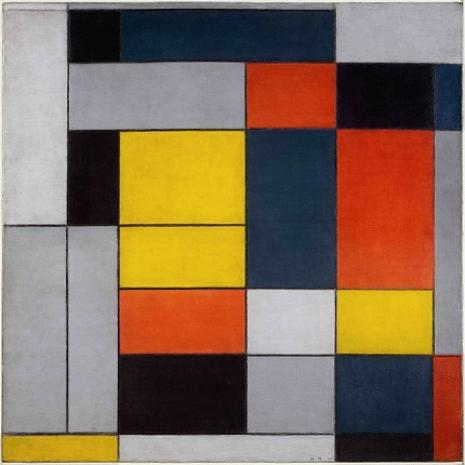 Piet Mondrian - No. VI / Composition No.II 1920 [Tate Liverpool]