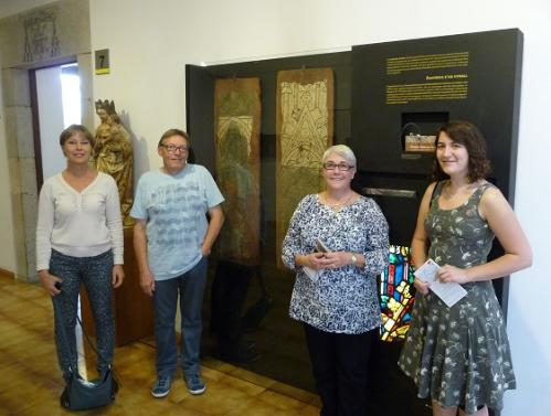 York graduate Anette Wahlgren, conservator Keith Barley, Sarah Brown and PhD student Katie Harrison