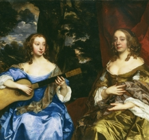 Detail from Sir Peter Lely, Two Ladies of the Lake Family, c. 1660. Copyright Tate, London 2010