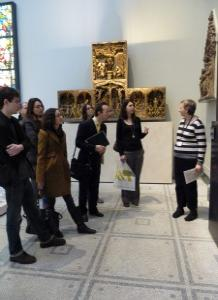 PhD students at the V&A. Photo: Philippa Turner