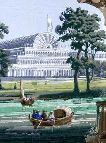 Detail of Crystal Palace wallpaper (courtesy of the National Archives)
