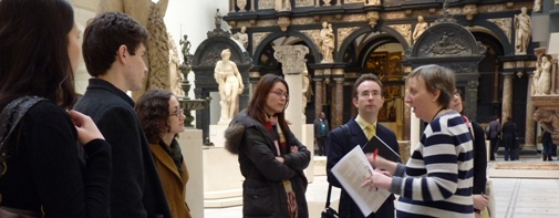 Student visit to V&A, photo courtesy of Philippa Turner