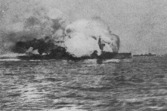 HMS Invincible is destroyed at the Battle of Jutland, 1916