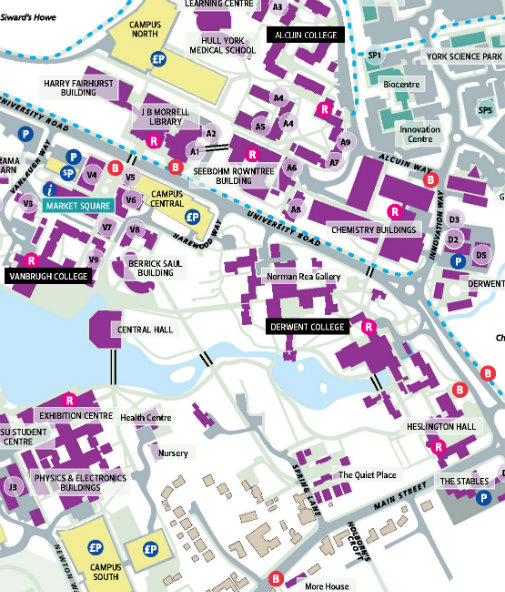 York Uni Map Maps and directions   Humanities Research Centre, The University  York Uni Map