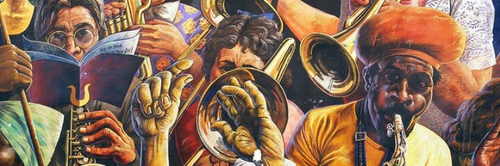 Hackney Peace Carnival Mural: The Band | by London Mural Preservation Society