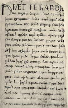 Reproduction in Julius Zupitza's Beowulf: Autotype of the Cotton MS Vitellius A.xv. in the British Museum