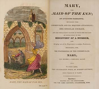 Cover and title page of Mary Maid of the Inn