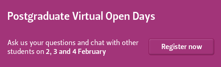 Register for the postgraduate virtual open day