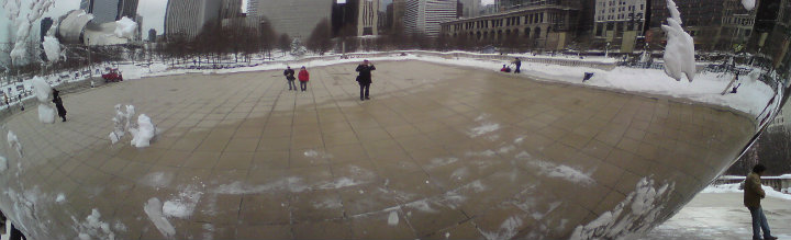 Detail from Anish Kapoor, 'Cloud Gate', 2006, Millenium Park, Chicago, photo Michael White