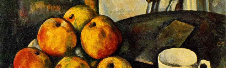 Detail from Still Life with Apples, Paul Cezanne.
