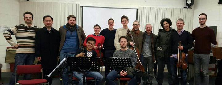 Quatuor Diotima and composers after their February 2016 workshops