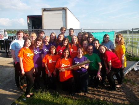Department Zamar Choir sing at the Olympic Torch Event at York Racecourse