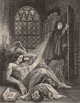 Credit: The frontispiece to the 1831 edition of Frankenstein