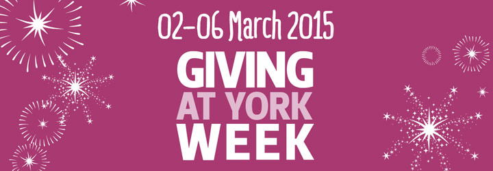 Giving at York week - banner