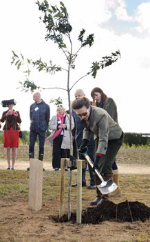 As Jubilee Woods project Patron, HRH The Princess Royal planted a ceremonial oak tree at the University in September to officially declare the Diamond Wood open. Photo by Ian Martindale