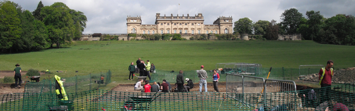 Archaeological excavation at Harewood House. Photo courtesy of the Yorkshire Post