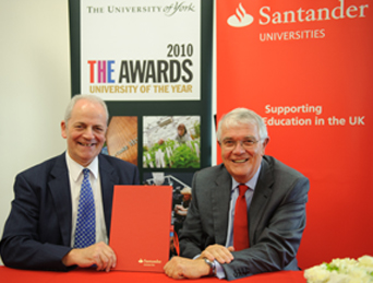 The Vice Chancellor of the University of York, Professor Brian Cantor, and Lord Terry Burns, Chairman of Santander UK. Photo by Ian Martindale