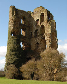 Former North-West corner of Sheriff Hutton castle (Photo: Flickr/tj.blackwell)