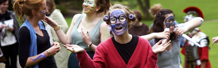 University of York students dressed in character