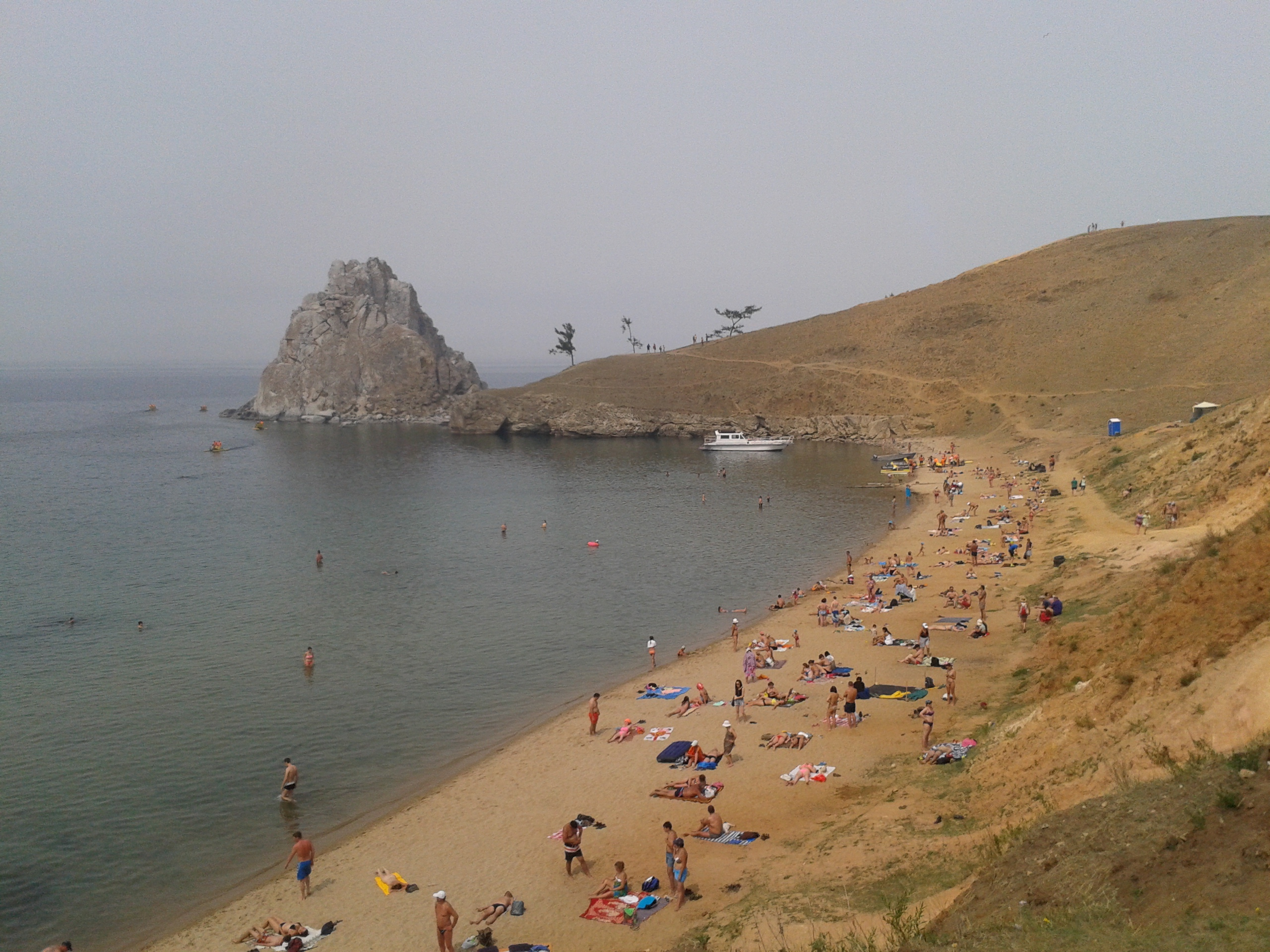 Image: Summer time is beach time in Siberia (Olkhon Island, Lake Baikal). Credit: Bryce Stewart