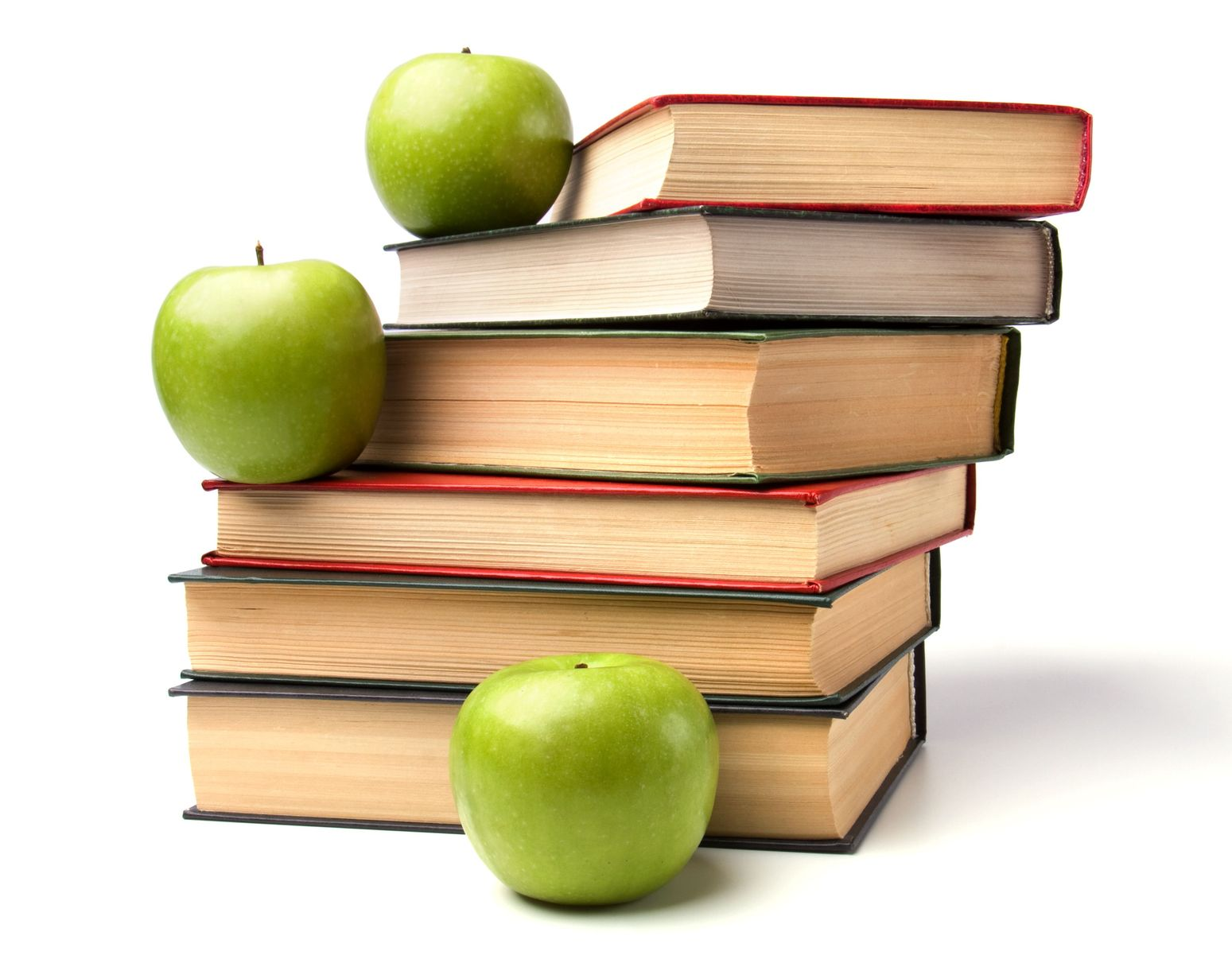 World Book Day - books and apples