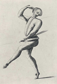 John Rich as Harlequin, c. 1720