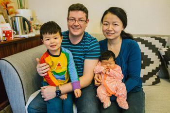 Dr Christina Wang and family