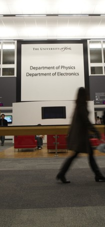 The Exhibition Centre concourse leading to the Departments of Physics and Electronics.