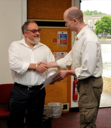 Phil Lightfoot receiving Supervisor of the Year award 2010