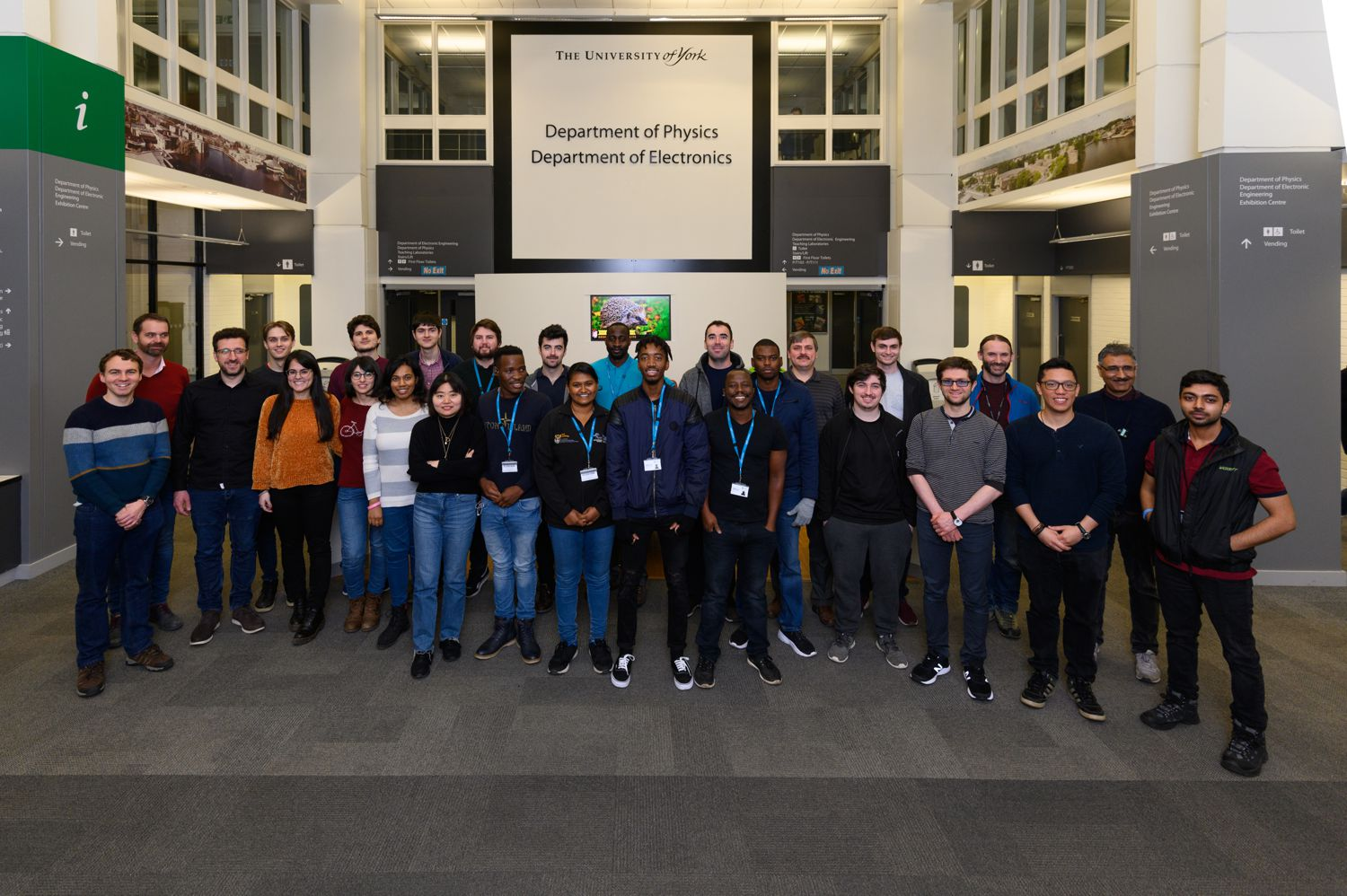 Nuclear Physics Group with students from University of Zululand in York