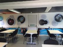 The astrocapsule interior in classroom setup