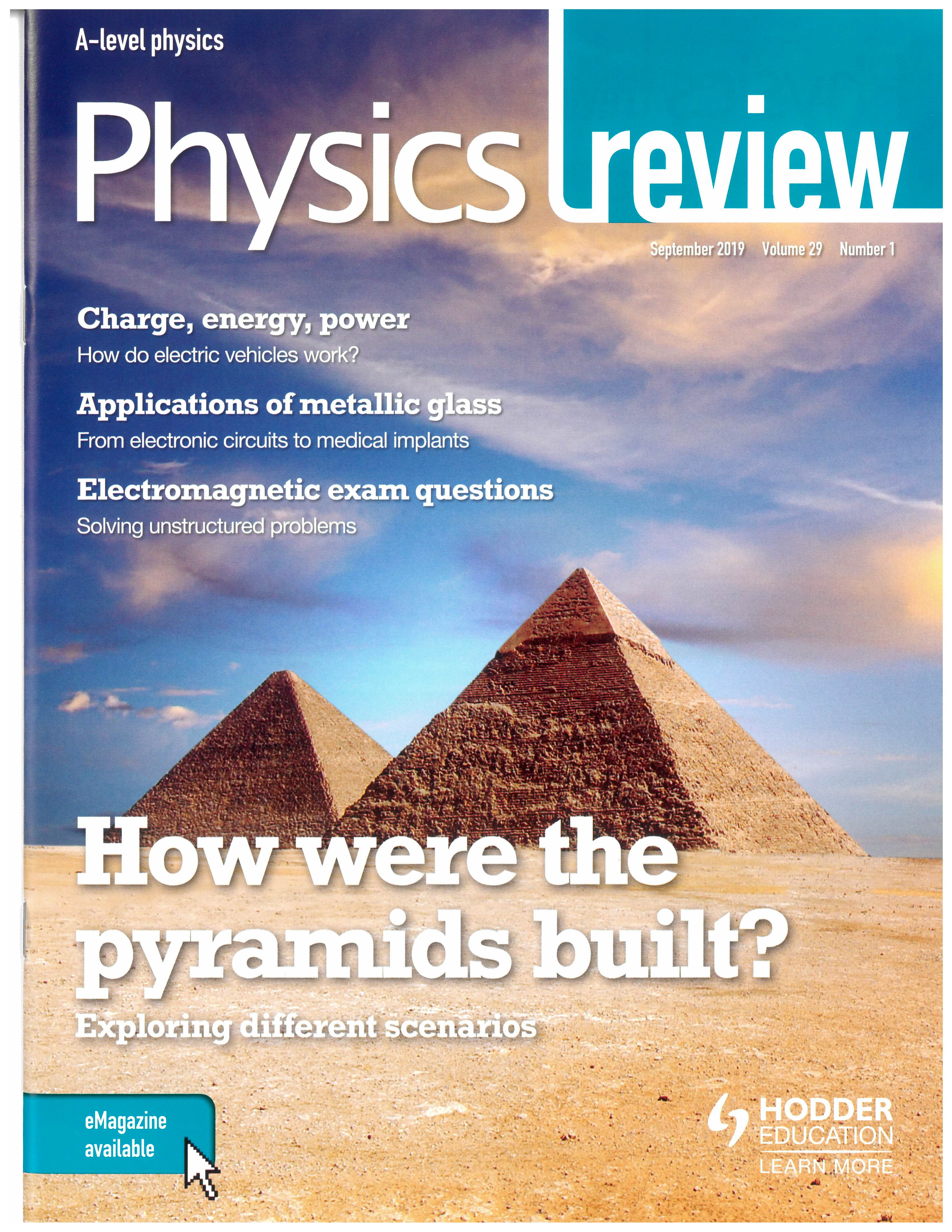 Image: Physics Review front cover