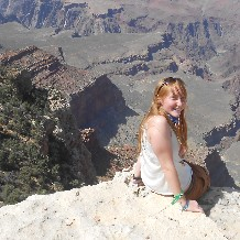 Physics Exchange Student Holly, Grand Canyon