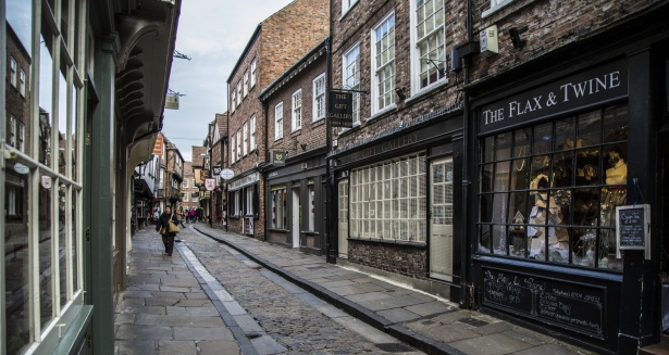 view of the shops in the shambles in York