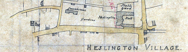 Heslington Village map