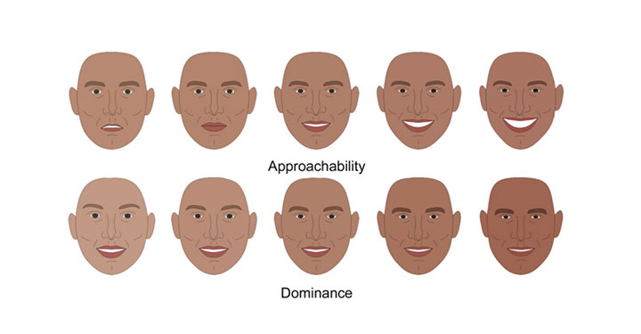 Image of a series of facial dimensions