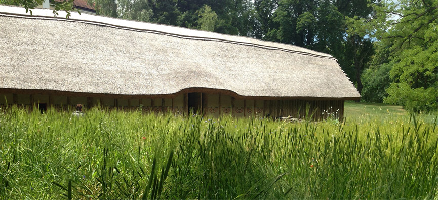 A reconstructed early Neolithic longhouse from central Europe.