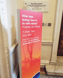 Royal Society Summer Science Exhibition Talk - Sign - Small