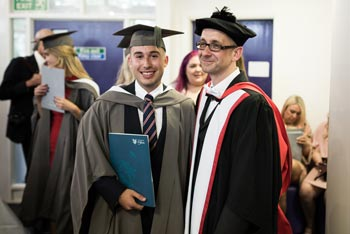 Professor Paul Johnson with recent graduate