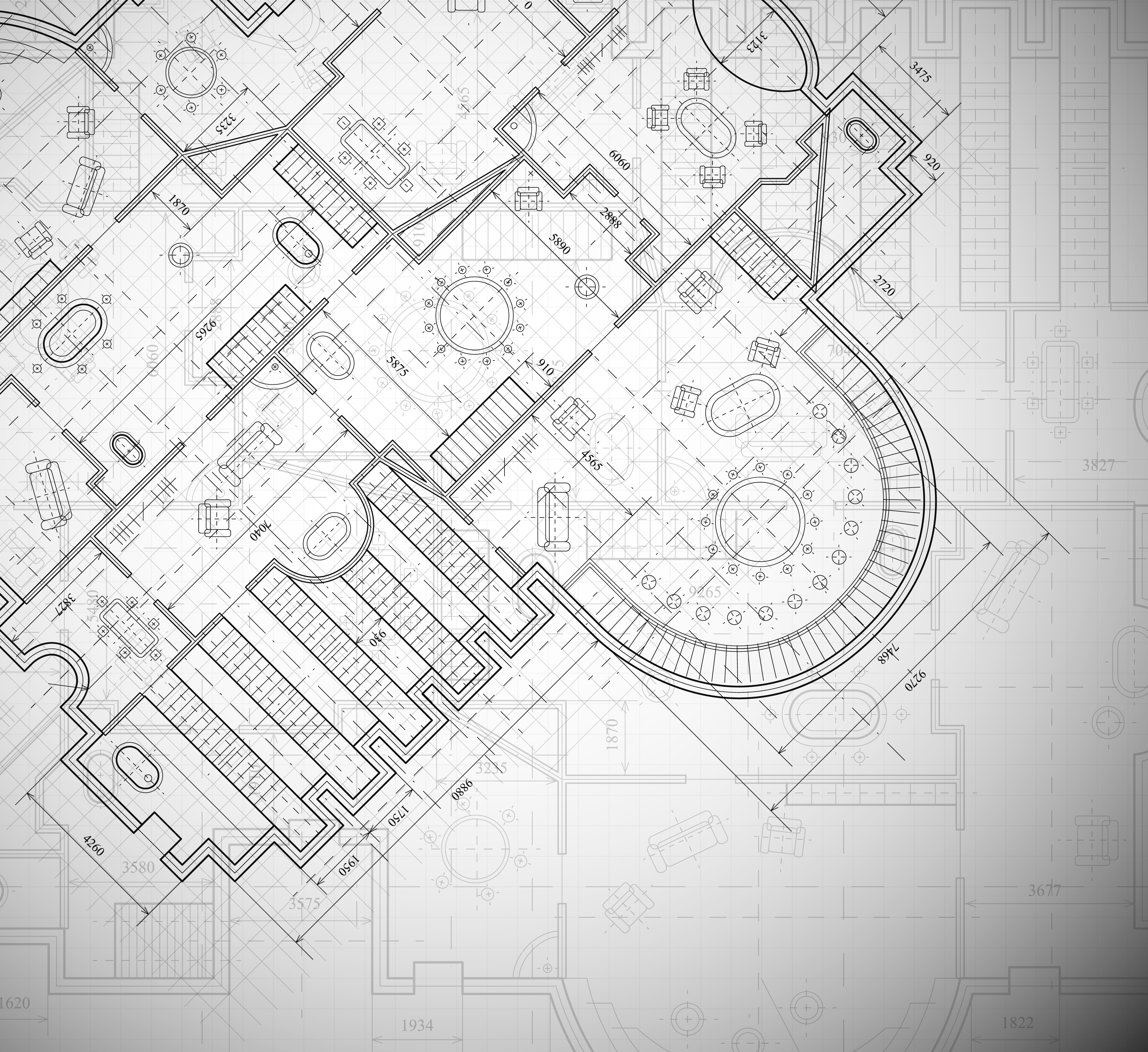 Shutterstock image of architectural plan.