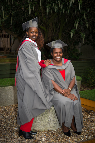 Lillian Karanja (on the left, standing) and Florence Rahiria. January 2017 graduation from MPA International Development. Both Commonwealth Scholars. 4 graduated at this time. news item
