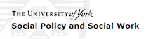 Department of Social Policy and Social Work, University of York (logo)