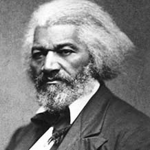 Photograph of American civil rights campaigner Frederick Douglass