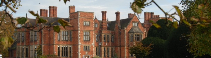 Banner image of heslington hall in autumn