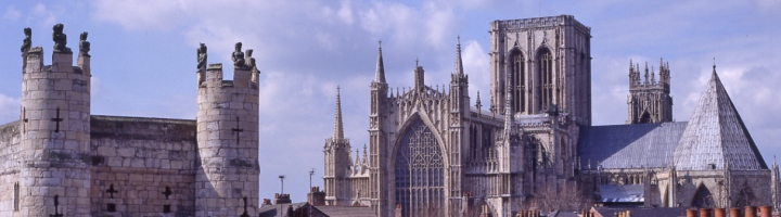 Banner image of York minster and monkgate