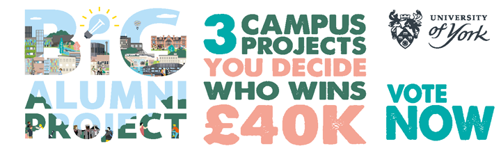 Three campus projects - you decide who wins £40k!
