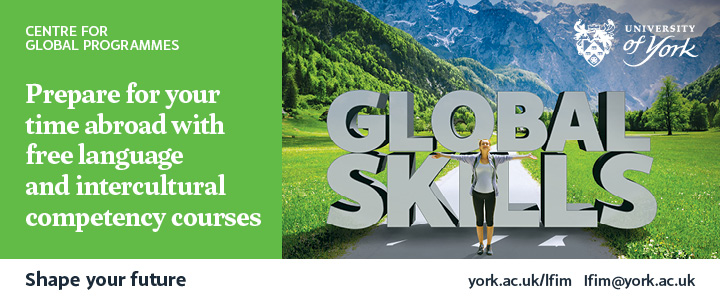 Global skills. Prepare for your time abroad with free language and intercultural competency courses. Shape your future.