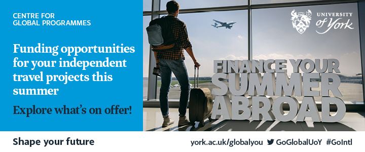 Finance your summer abroad. Funding opportunities for your independent travel projects this summer.